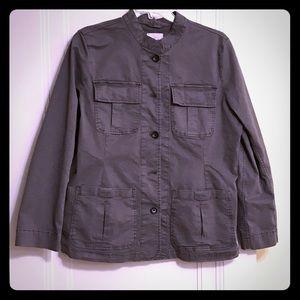 High Neck Military Style Jacket